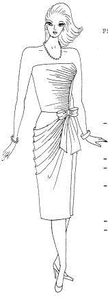 moldes de vestido drapeado en talle espalda