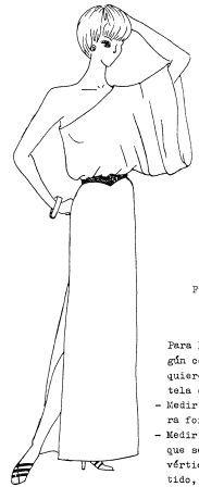 moldes de vestido tipo griego