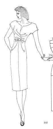 moldes de vestido talle imperio