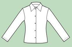 Blusa con Cuello Convertible